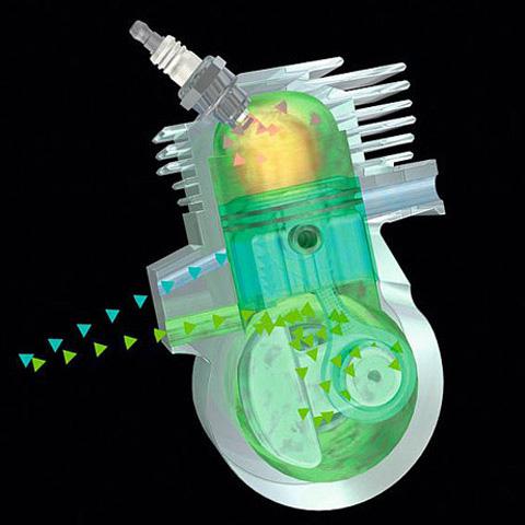 Двигатель STIHL 2-MIX с системой продувки
