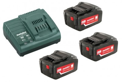 Комплект Metabo 3шт. 5.2А·ч 18В Li-Ion и ЗУ ASC ULTRA Basic-Set 685061000