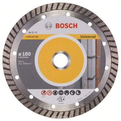 Диск алмазный Professional for Universal Turbo для УШМ (180х22,2 мм) Bosch 2608602396